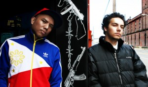 LEFT - rapper Geologic   Right - producer/DJ Sabzi